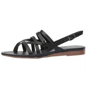 Franco Sarto  Gilligan black strappy sandals 9.5